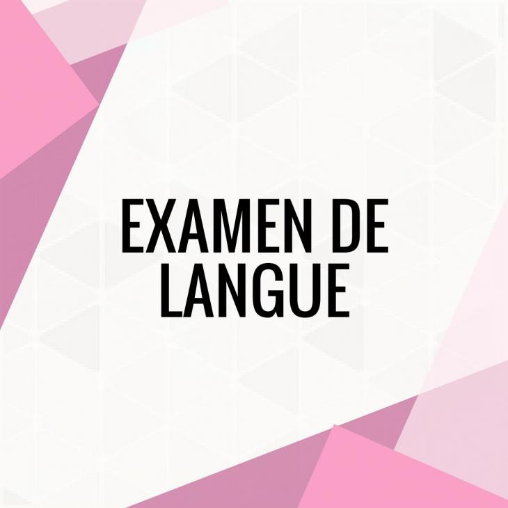 visuel des examens de langue